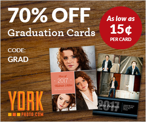70% Off Custom Graduation Cards!