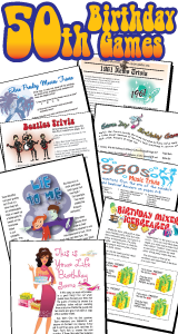 50th Birthday Party Games Pack