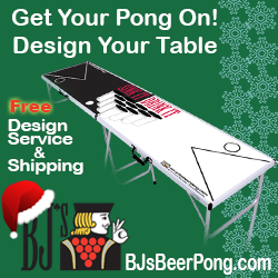 Holidays BJs Beer Pong Tables