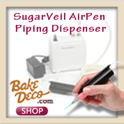 Versatile SugarVeil AirPen Piping Dispenser for all icings. Create very fine details!