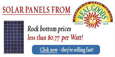 solar panel rock bottom prices